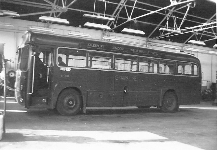 RF 100 inside Chelsham Bus Garage